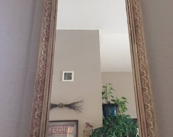 Shabby Chic Mirror, Accent Mirror, Distressed Mirror, Decorative Mirror, Upcycled Mirror, Vanity Mirror, Vintage Mirror, Cottage Mirror