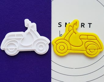 Scooter Cookie Cutter and Stamp