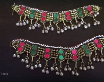 Pair of Anklet Boho Gypsy and Tribal style