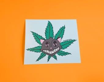 Toogumshoe Art Print Slug Weed Kitty