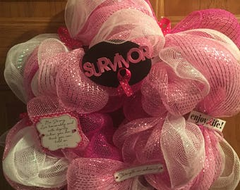 Breast Cancer SURVIVOR wreath