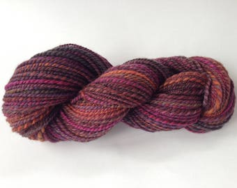 Handspun Yarn - Worsted 2-ply - 120 yards