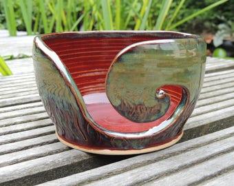 Wolpot/yarnbowl ceramic stoneware carved