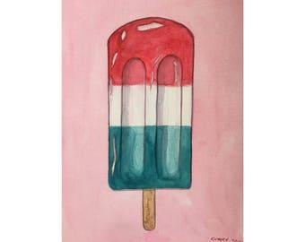 Popsicle (Original Watercolor)