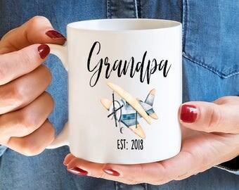 Grandpa EST 2018, Grandpa Mug, Grandpa Gift, Pregnancy Reveal, Gift For Grandpa, Grandpa, Coffee Mug, Baby Announcement, Grandpa Coffee Mug