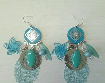 Earrings dangle turquoise