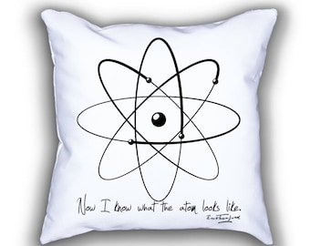 Rutherford and Model of Atom pillows