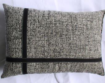 Heather black rectangular cushion