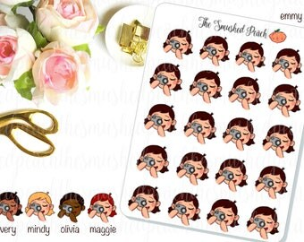Photography Smushie - Hand Drawn Planner Sticker Sheet