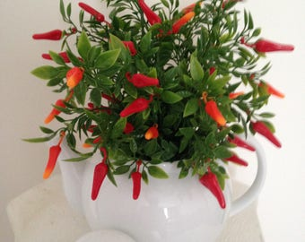 Chilli Teapot Arrangement