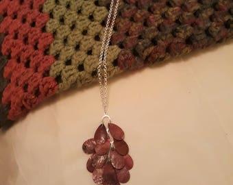 Fuschia Pink Pendant Necklace