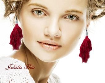 Tassel Earrings,Boho Earrings,Statement Earrings,Bohemian Earrings,Drop Earrings,Dangle Earrings,Hoop Earrings,Ethnic Earrings