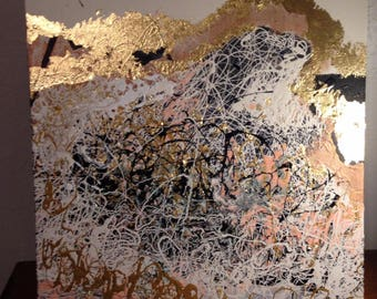 Set of Metallic Modern Abstract Art