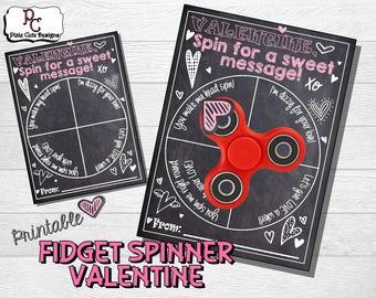 Fidget Spinner Valentine; Printable valentine; Valentine fidget spinner; printable fidget spinner Valentine; preschool valentine