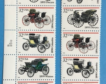 Cars - early cars on stamps -Collectible Postage -Horseless Carriage