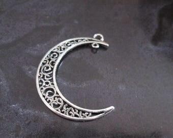 a Crescent Moon Silver Pendant
