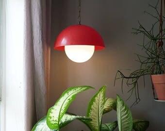 Red Pendant Globe Light