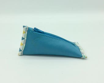 Berlingot Turquoise leather wallet