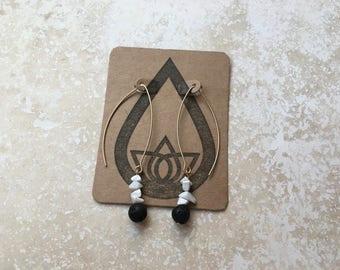 Lava + Howlite Diffuser Earrings