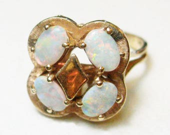 Vintage 14K Opal Ring - X1484