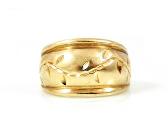 10K Gold Dome Cigar Band Ring - X3017