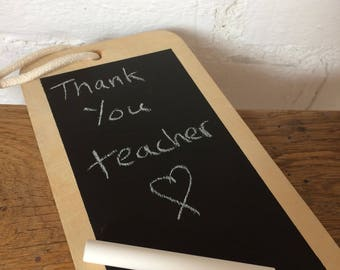 Upcycled Chalkboard Quirky Teachers Thankyou Gift Richard scarry Paper Clips
