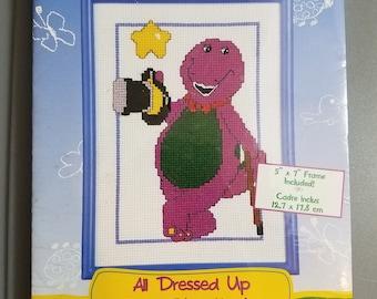 All Dressed Up Barney Cross Stitch Kit - #16-73