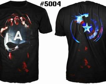 Unique 3D High Quality Mens  T-shirt Captain America