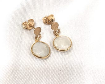 Piedraluna Idun Earrings. Idun Moonstone Earrings.