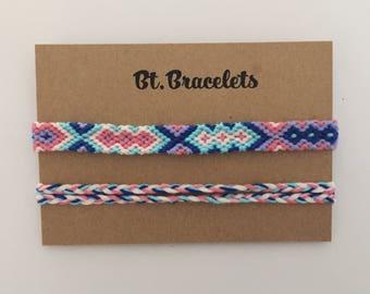 Friendship bracelets 3.00 straps blue/pink