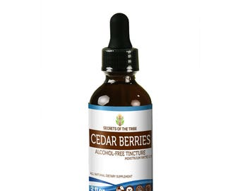 Cedar Berries FREE Alcohol Liquid Extract, Wildcrafted Cedar Berries (Juniperus monosperma) Dried Berries