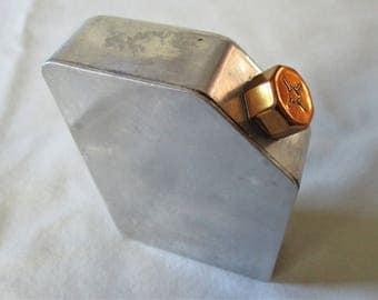 1930s Talcom Powder Traveler Container Beau Brummell Metal Original Vintage
