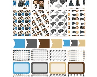 GAME OF THRONES  Weekly Planner Sticker Kit/Printable's Happy Planner Classic Instant Download /