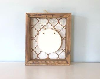Rustic Shadow Box - Baby Handprint - Paw Print - Keepsake  - Baby Shower Gift - Reclaimed Barn Wood - Shadowbox Display - Pottery Plaque