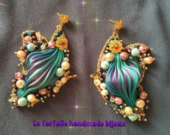 Shibori silk butterflies