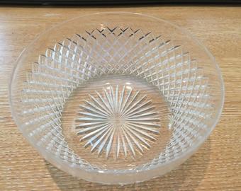 Edwardian antique cut glass desert bowl