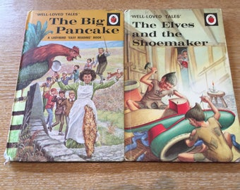 """Two Ladybird Well-Loved Tales """"The Big Pancake"""" and """"The Elves and the Shoemaker"""""""