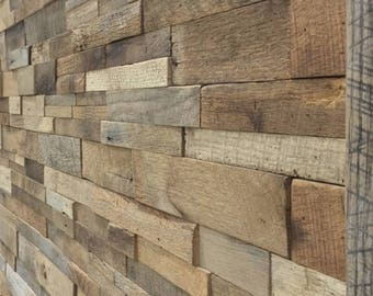 Barnwood wall custom fit with instructions and adhesive