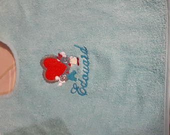 personalized embroidered Terry bib