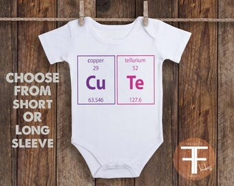 Periodic Table Onesie, Nerd Onesie, Baby Girl Onesie, Take Home Outfit for Baby Girl, Baby Girl Gift, Baby Shower Gift, Coming Home Outfit