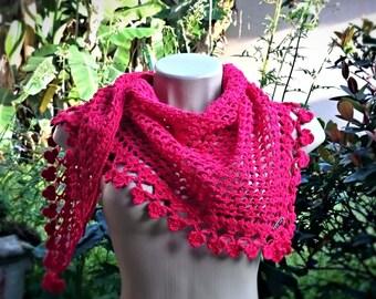Crochet shawlette Rubi