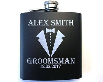 Groomsmen Gifts - Personalized Groomsman Flask - Custom Groomsmen Flask - Groomsman Gift - Groomsmen Gift - Gift for Groomsmen