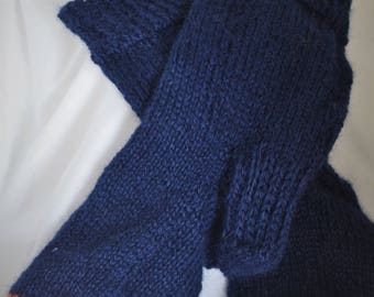 Handknit 100% alpaca socks