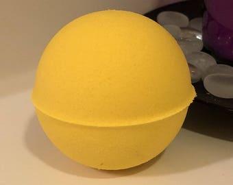 Banana Cream Bath Bomb Bath Fizzer W/ Shea Butter Coconut Oil Epsom Salt 3 oz / 5 oz / 7 oz Baseball Size Handmade FREE SHIPPING (US)