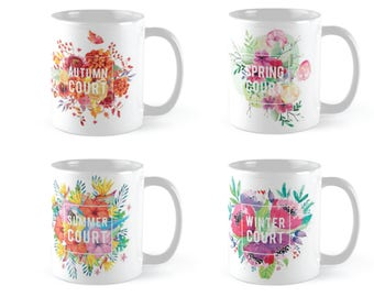 ACOTAR Floral Mug Collections - White