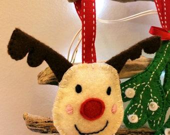 Reindeer Tree Decoration / Christmas Tree Decoration / Christmas Tree Ornament / Personalised Christmas decoration / Christmas / Reindeer