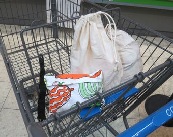 Zero waste produce bags - Bulk bin bag - eco friendly bag - Produce bags - reusable grocery bag - zero waste bag - farmers market bag - bulk