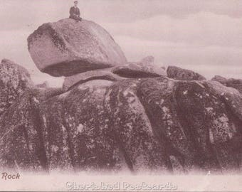 Logan Rock.Treen in Cornwall ~  Vintage Postcard. ~ Not Posted ~ 1900's