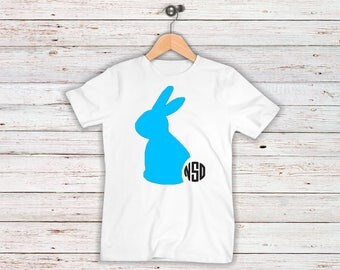 Easter Bunny Monogrammed Toddler/Youth Shirt