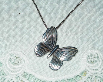 Butterfly pendant, sterling silver, 925, Art designed, unique, hand made,vintage